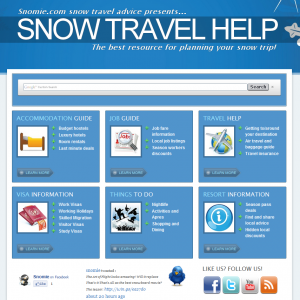 Screenshot of SnowTravelHelp.com