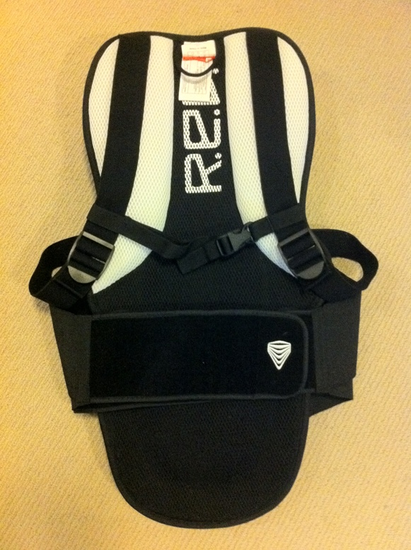 Red Total Impact Back Protector - Rear View