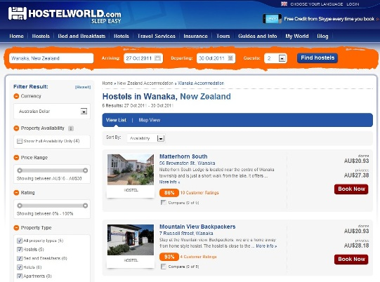 Top 4 travel booking sites for flights hostels lift tickets for Best booking site for flights
