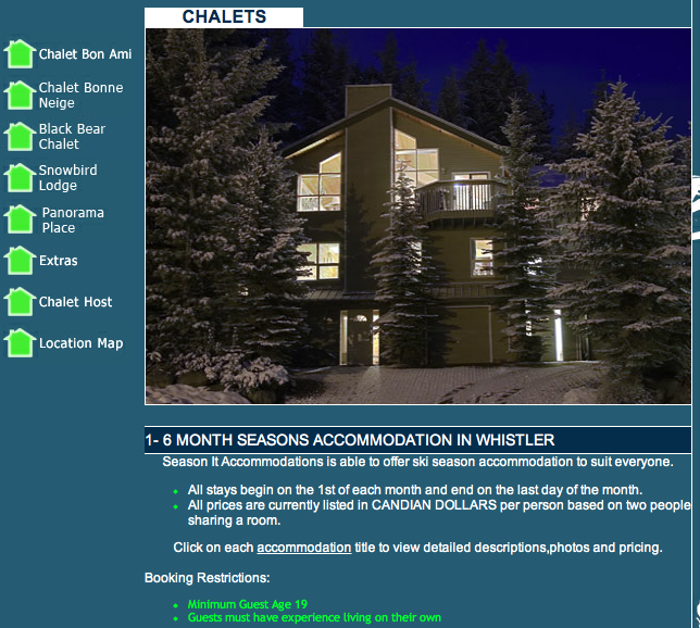 SeasonIt Chalets - Whistler season accommodation