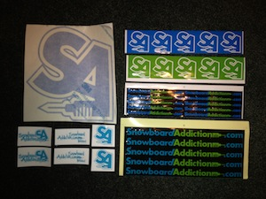 Snowboard Addiction Stickers