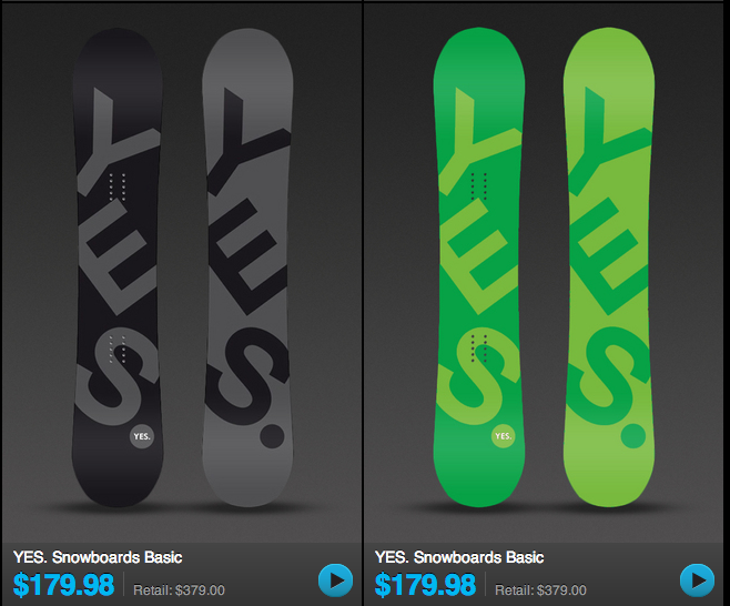 The Clymb Snowboard Sale - Example 1