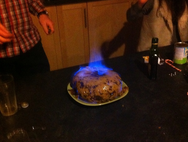 Christmas Pudding On Fire.A Standard Whistler Christmas And A Pudding On Fire