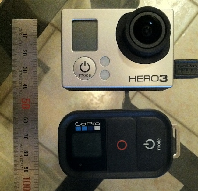 GoPro HD Hero 3 Black - Size & Remote
