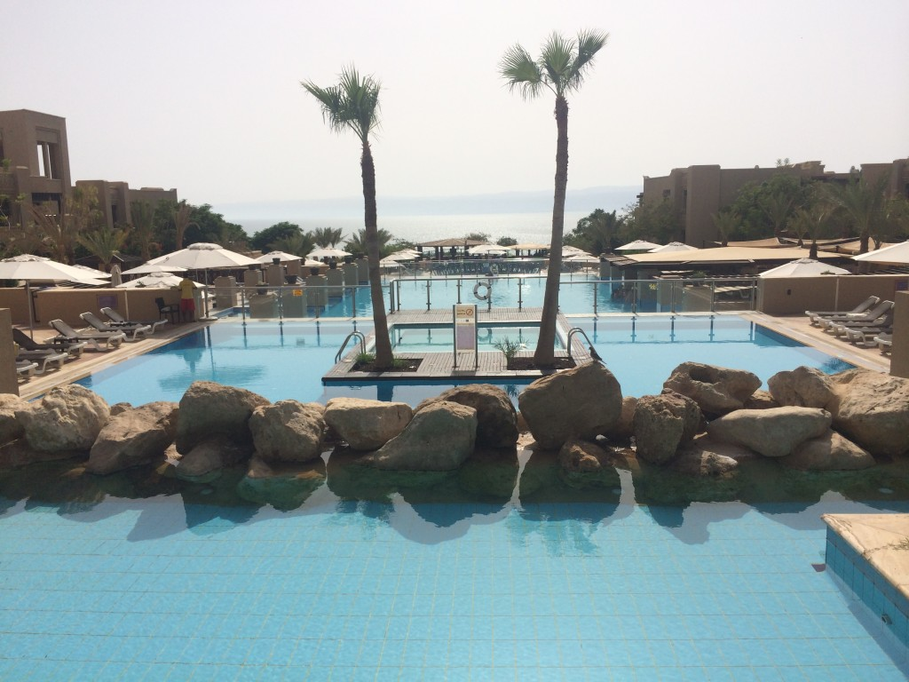 Epic hotel pool at Holiday Inn - Dead Sea